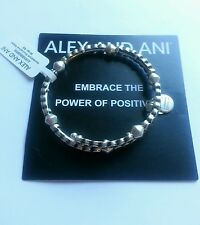 ALEX and ANI Winding Road Wrap Bangle Bracelet R SILVER Limited Edition NWT BOX