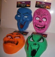 4 Assorted Masks for Children & Adults. Spooky Mask, Haunted House.