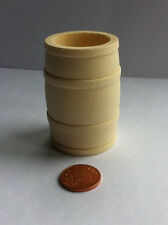Large Wooden Barrel Dolls House Miniature, Outdoor Pub 1.12th Scale