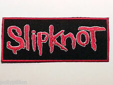 ROCK PUNK METAL MUSIC SEW / IRON ON PATCH:- SLIPKNOT (b) BLACK SIGNATURE STRIPE