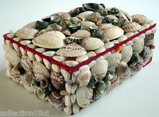 ONE VINTAGE JEWELS BOX MADE FROM SHELLS