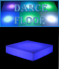 PORTABLE LED DJ STYLE DANCE FLOOR MULTI COLOR CHANGING NIGHT LIGHT MUSIC PLAY