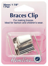 Hemline 30mm Nickel Braces Clip