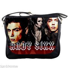 Andy Sixx Black Veil Brides Messenger Bag Shoulder Notebook Laptops School Bags