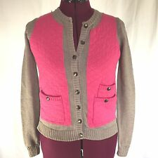 Marc By Marc Jacobs Beige Cotton Silk Cashmere Knit Cardigan Sweater Size XS