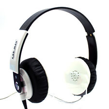 NEW LAXMAX HD Stereo Headphones in White - SALE