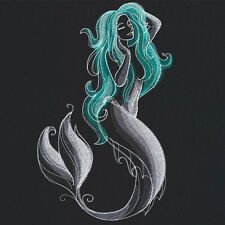Midnight Magick - Mermaid Bathroom HAND TOWEL SET  OF 2 EMBROIDERED Beautiful