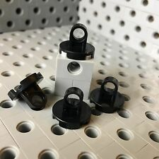 LEGO Black Round 2x2 Tile Plate With Lifting Ring Hook New Lot 4