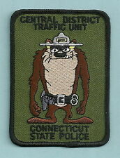 CONNECTICUT STATE POLICE CENTRAL DISTRICT TRAFFIC UNIT PATCH TAZ
