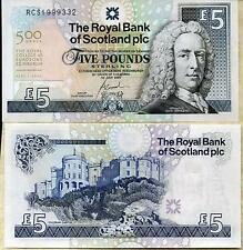 2005, el Royal Bank of Scotland plc £ 5 Libras Royal College Cirujano Billete Unc
