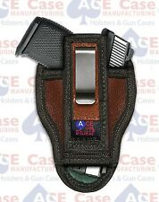 TUCK-ABLE IWB LEATHER CONCEALED CARRY HOLSTER FOR GLOCK, SIG, XD, TAURUS, S&W
