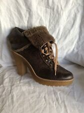 Bertie Brown  Sheep Skin Ankle Boots Size 39
