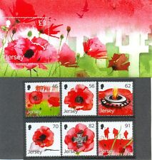 Jersey-World War 1-Remembrance issued May 2014 mnh set and min sheet