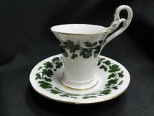 "Meissen Full Green Vine, Smooth, Gold Trim: Cup and Saucer, footed, 3"" cup"
