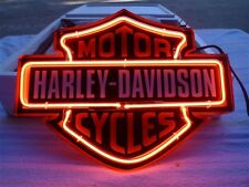 12''x9'' Harley-Davidson Motorcycles Beer Bar Neon Sign Light Garage Bike Decor
