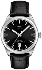 Tissot T1014071605100 PR100 Automatic Black Dial Black Leather Watch