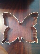 "NWT BUTTERFLY Shaped Solid Copper Cookie Cutter Biscuit Mold 5.5"" x 4.5"""