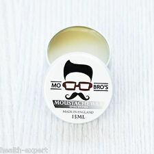 Mo Bro's - Unscented Moustache Wax 15ml Tin Made in England