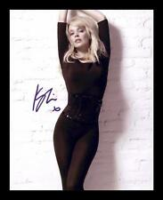 KYLIE MINOGUE AUTOGRAPHED SIGNED & FRAMED PP POSTER PHOTO