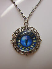 Rift Eye glass cabochon pendant charm necklace 19 inch stainless steel chain