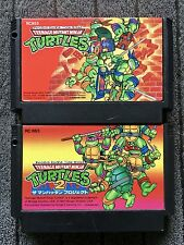 Teenage Mutant Ninja Turtles 1 & 2 Set - JAP - FC - Famicom - Nintendo