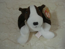 1997 TY Beanie Baby Bruno the Bull Terrier Dog NEW w/Tags #041831 - 5/6 Gen