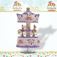 New Windup Carousel Music Box Gift Castle in the Sky Purple R76S