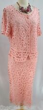 Sophie Chang lace Dress chic Skirt Suit 2 pc mother of the bride MOB L VTG NEW