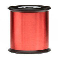 "43 AWG Gauge Enameled Copper Magnet Wire 5.0 lbs 0.0024"" 155C Red MW-79-C"