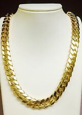 """14k Solid Gold Miami Cuban Curb Link 30"""" 13.5 mm 375 grams chain/Necklace"""