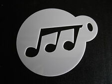 Laser cut small music note design cake, cookie, craft & face painting stencil