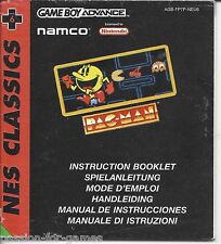 MANUAL for PAC-MAN - Game Boy Advance GBA
