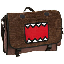 Domo Japanese Animation Faux Fur Men Canvas Messenger Bag School Laptop Brown