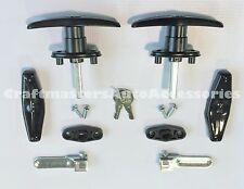 Truck cap, Topper Black Handles,Locks w/covers  Bauer #T311-2 Complete Set