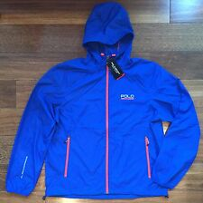 POLO SPORT RALPH LAUREN $99 Windbreaker Performance Hooded Jacket Blue XL NWT