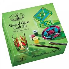 House Of Crafts STAINED GLASS Craft KIT CON VERNICE PIOMBO STRISCIA PORTAGIOIE BOX hc530