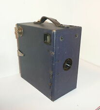 BLUE , VINTAGE ENSIGN E-29 BOX CAMERA for COLLECTION & DISPLAY