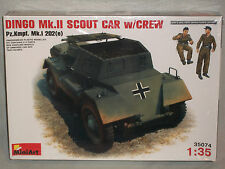 MiniArt 1/35 Dingo Mk.II Scout Car w/Crew, PzKmpf. Mk.I 202(e) - Factory Sealed