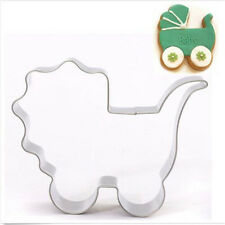 FD2919 Baby Carriage Stainless Steel Cookie Cutter Cake Baking Mould Biscuit♫