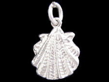 Scallop shell charm sterling silver 925 charmmakers 3D