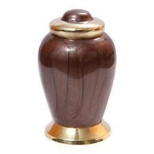 Mini Simplicity Bronze Cremation Keepsake Urn Ashes, Memorial Urns