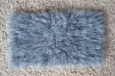 1:12 scale grey fur rug for dolls house