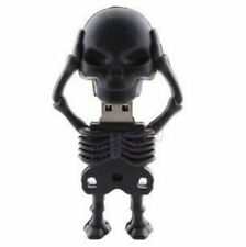 Cool! Black Skeleton Model USB 2.0 Memory Stick Flash pen Drive Real 8GB Gift