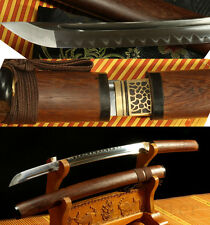 31'1095 HIGH CARBON STEEL CLAY TEMPERED ROSEWOOD JAPANESE SWORDS WALIZASHI SHARP