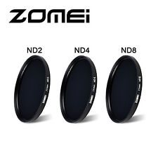 Zomei 58mm ND Filter Kit Neutral Density Lens Filter ND2 ND4 ND8 Lens Pen Pouch