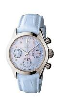 NEW Gevril Women's 2907 Lafayette Automatic Chrono Date DIAMOND Leather Watch