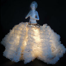 "Nude Half Doll Lamp- All Original incl. Working ""Tipped"" Edison MAZDA Lightbulb"