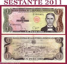 DOMINICAN REPUBLIC  - 1 PESO ORO SERIE 1982 raro , scarce  P 117c   SPL+ / XF+