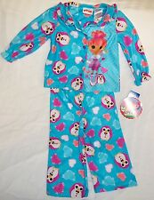 Lalaloopsy Flannel Pajamas 2 Piece Set Infant Toddler Girls Shirt Pants Sz. 24 m