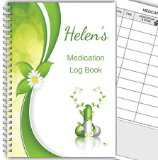 A5 PERSONALISED MEDICINE DIARY/ MEDICATION LOG BOOK/ DAILY MEDICINE RECORD 01